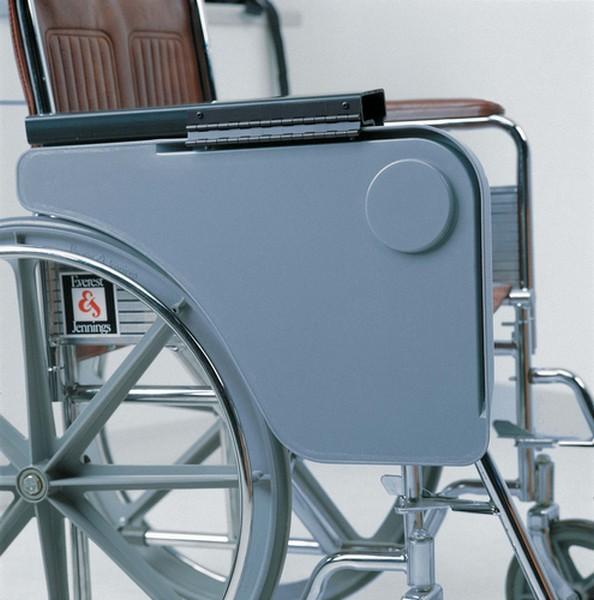 Plateau d angle gris Droit pour fauteuil roulant