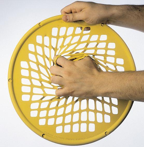 Power web jaune disque de réeducation de la main