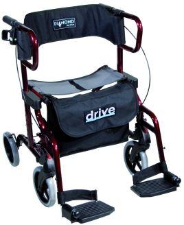 Rollator et fauteuil de transfert