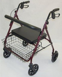 Rollator XXL en acier le plus robuste de la gamme bariatrique