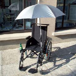 Parapluie de fauteuil roulant