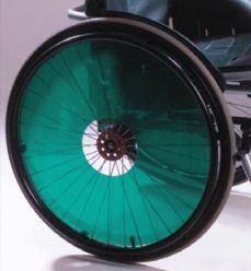 Flasque fauteuil roulant translucides de couleurs verte