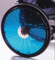 Enjoliveurs fauteuil roulant violet