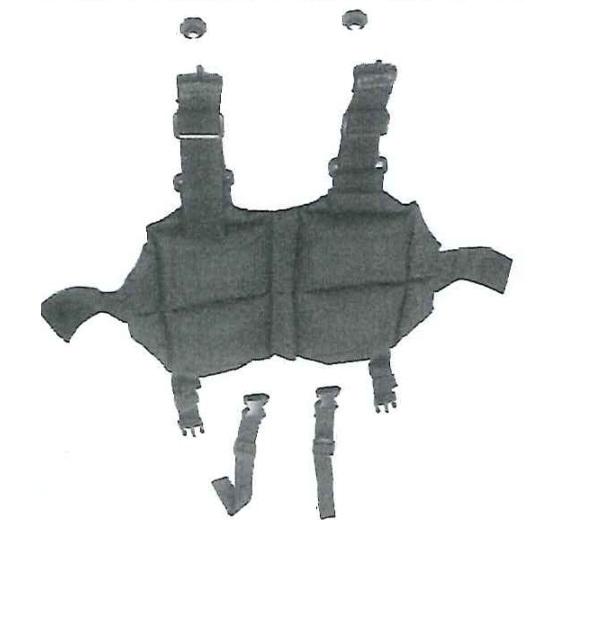 Vue détaillée du harnais-veste TROTTER