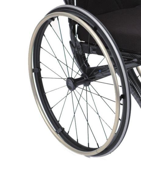 Main courante en Titane avec patte de fixation pour fauteuil rou