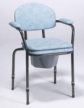 Chaise avec assise percée ajustable en hauteur avec chassis noir