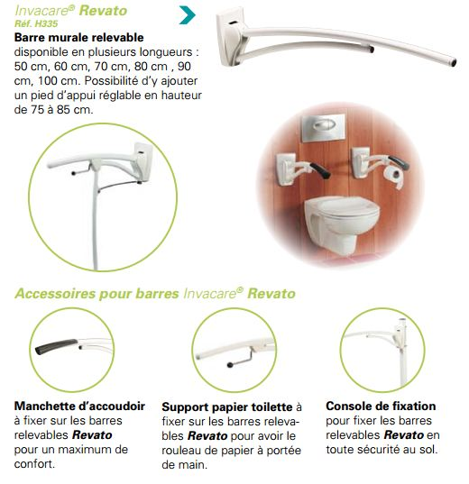 Barre appui Invacare Revato Brochure