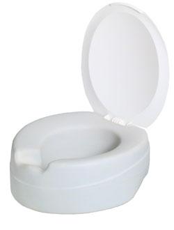 Rehausse WC contact souple avec couvercle