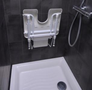 Strapontin de douche plié Bornéo
