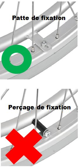 Mains courantes patte de fixation