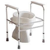 Cadre de toilette ADEO INVACARE en aluminium