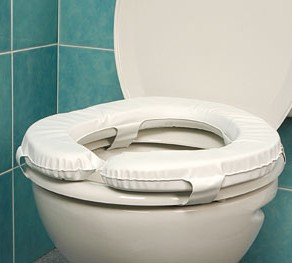 Coussin toilette rembourre ou sur lunette confort