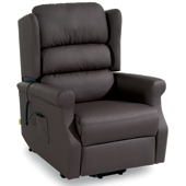 Invacare Porto fauteuil releveur simili cuir chocolat