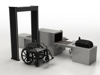 Fauteuil roulant sans metal pour aeroport