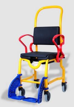 Chaise de douche pour enfant Augsburg petites roues