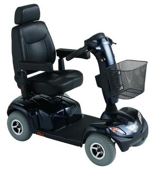 Invacare Orion scooter electrique 4 roues bleu Onyx