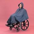 Poncho imperméable pour personne handicapée