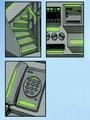 Exemples de position du roulant adhesif luminescent