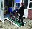 Rampe d acces pour fauteuil roulant en fibre de verre