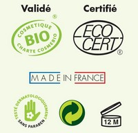 Creme de massage neutre bio Green For Health certification