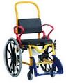 Chaise de douche pour enfant Augsburg grandes roues