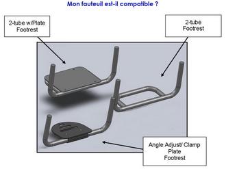 Repose pieds compatible sans adaptateur