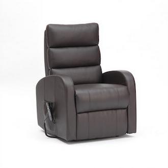 fauteuil releveur simili cuir chocolat