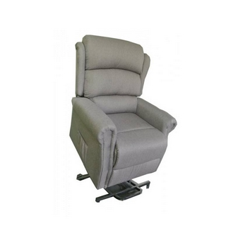 fauteuil releveur renaissance tissu gris