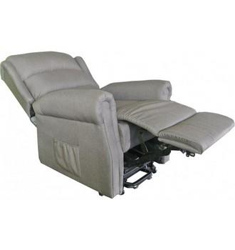 fauteuil releveur renaissance tissu gris 2