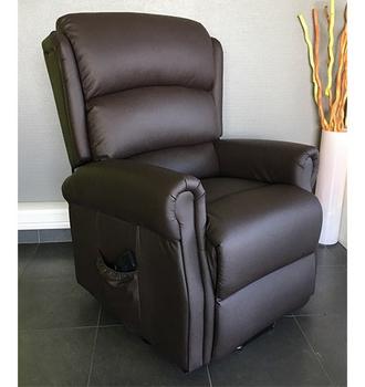 fauteuil releveur renaissance 2 moteurs simili cuir chocolat