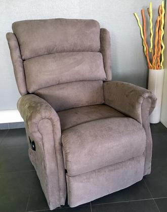 fauteuil releveur renaissance microfibre taupe