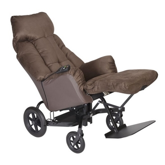 Fauteuil coquille Elysee velours Choco1