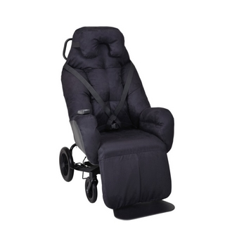 Fauteuil coquille Elysee velours Black