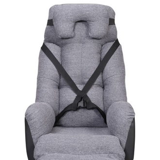 Fauteuil coquille Elysee Tissu Gris