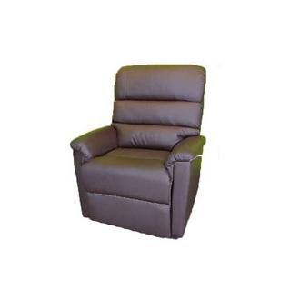 fauteuil releveur perle simili cuir chocolat