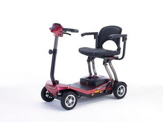 Scooter pliant Invacare Scorpius rouge