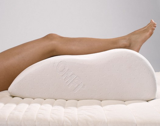 Oreiller de jambe à mémoire de forme
