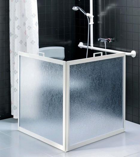 Ecran de douche portable 2 panneaux