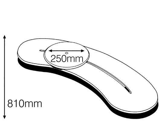Dimensions de la planche de transfert BeasyGlyder