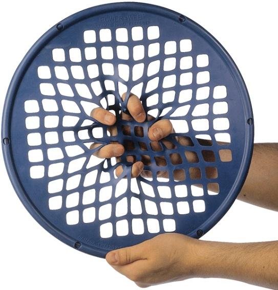 Power web bleu disque de réeducation de la main
