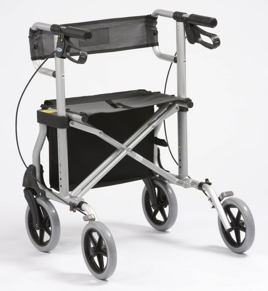 Rollator fauteuil de transfert 2 en 1 vue de dos