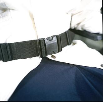 Ceinture de securite pour fauteuil roulant et scooter