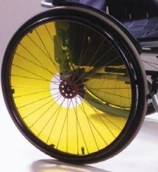 Flasques fauteuil roulant translucides Jaune