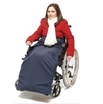 Protege-jambes polaire pour fauteuil roulant