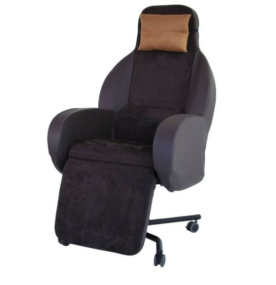 Fauteuil coquille Soffa type C couleur chocolat