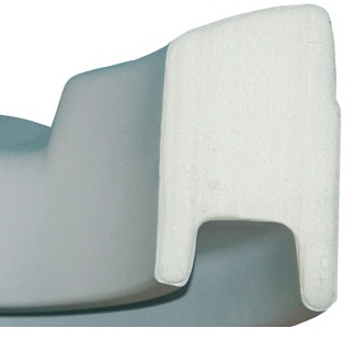 Détail de fixation du rehausse wc souple avec couvercle