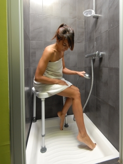 Tabouret de coin de douche Sumatra idéal cabine de douche
