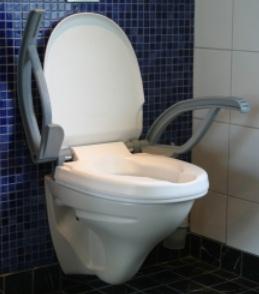 Rehausse wc accoudoirs securit avec accoudoirs amovibles