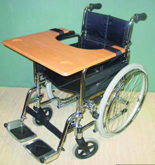 Tablette pour fauteuil roulant