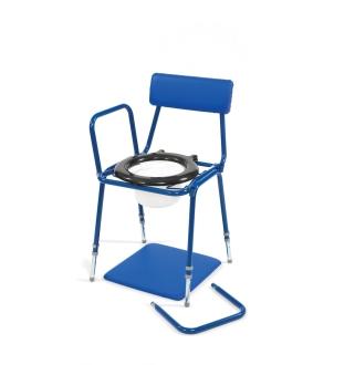 Chaise percée a hauteur ajustable avec accoudoirs amovibles
